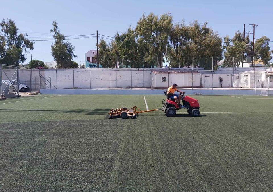 Ολοκλήρωση των εργασιών συντήρησης τεχνητού χλοοτάπητα σε τέσσερα γήπεδα