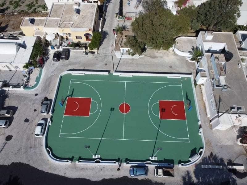 Ολική ανακαίνιση του γηπέδου μπάσκετ της τοπικής κοινότητας Ημεροβιγλίου